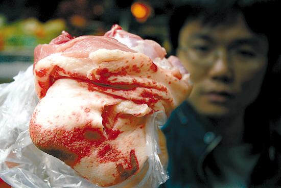 猪肉街坊心惊红斑睇到点点调味品制品v猪肉图片