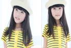 嫩黄钮扣条纹长裙